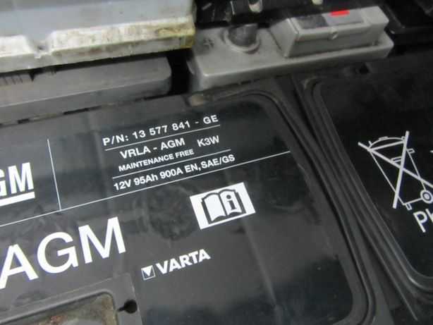AGM Opel GM 95Ah 900A 12V P+ akumulator Varta