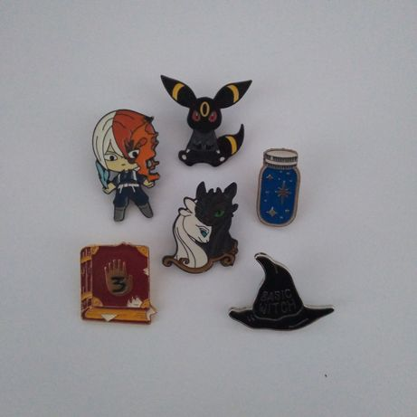 Przypinki Emanelowe Metalowe Pokemon, Anime, Boku no Hero, Gravity