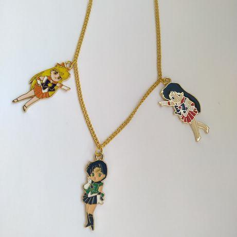 Łańcuszek z zawieszkami Sailor Moon manga anime