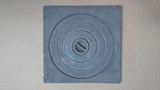 Плита чугунная 410*410 под казан печная ,плита чавунна для печи, грубы