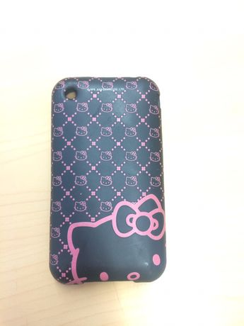 Capa semi rígida, marca Hello Kitty, para iphone3