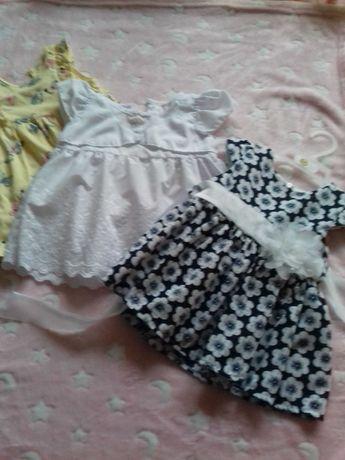 Sukienki dla dziewczynki roz 68