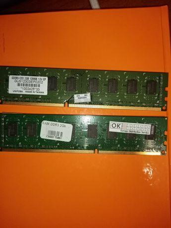 ОЗУ DDR3 2GB  /ОЗУ ДДР3 2 ГБ   2 планки