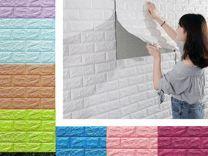 Самоклеющиеся декоративные 3Д панели под кирпич 7мм белые и цветные