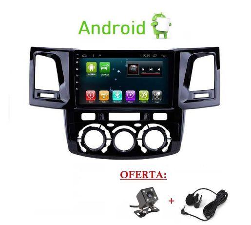 (NOVO) Rádio 2DIN • TOYOTA Hilux (2005 até 2015) • Android GPS Wi-Fi