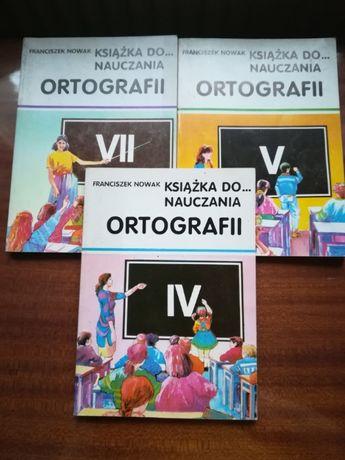 Książka do nauczania ortografii IV, V, VII Franciszek Nowak
