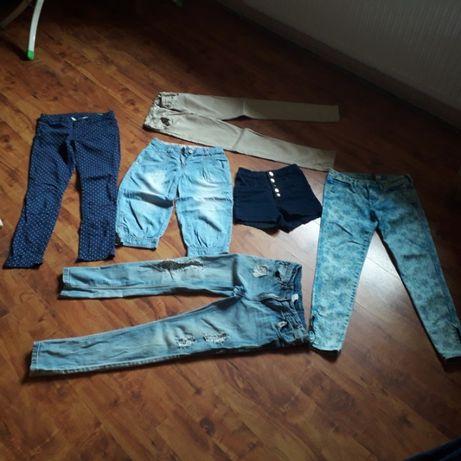 spodnie firmowe jeansowe dla dziewczynki roz. 146- kilka par za 30 zł
