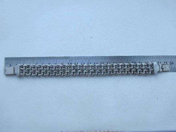 серебряный браслет двойной бисмарк 75г.