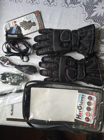 Podgrzewane rękawice motocyklowe  Oxford. roz.S