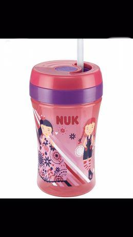 NUK Cup Fun 300ml Kubek niekapek ze słomką nauka samodzielnego picia