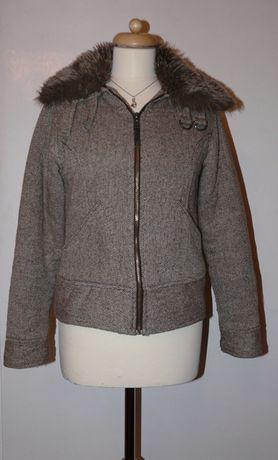 Ciepła krótka kurtka jesienna z futerkiem, Carry, r. M
