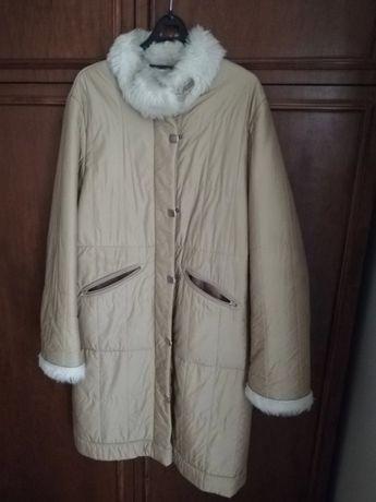 Jass płaszcz futerko jesień zima roz. 42/44