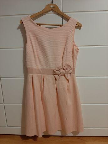 Elegancka sukienka blady róż, rozmiar M-L
