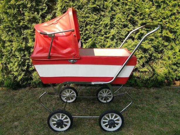 stara zabawka PRL wózek dla lalek lalka miś stare zabawki RETRO antyk