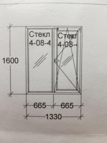 Окно металлопластиковое 1330×1600