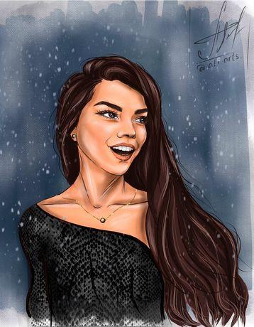 Цифровой портрет digital art аватар рисунок картина реалистичный