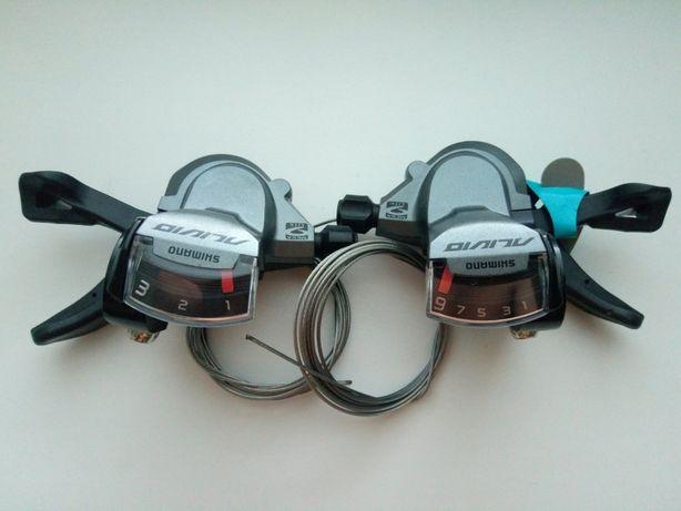 Манетки 3х9 Shimano Alivio SL-M4000 (SL M 4000) шифтеры 27 скоростей