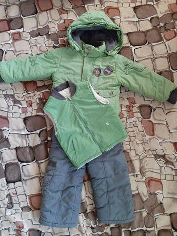 Зимний костюм тройка (куртка, желетка, полукомбенизон) 92см
