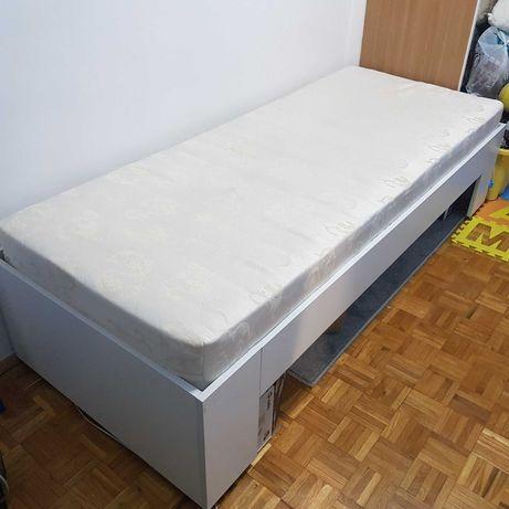 pojedyncze łóżko, wykonane na zamówienie, solidne,  jak nowe