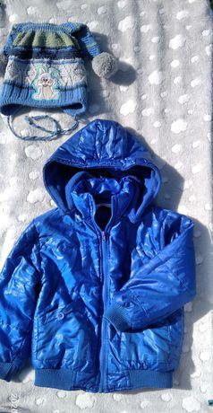Куртка демисезонная  и шапка для мальчика 3-4 года, деми, детская