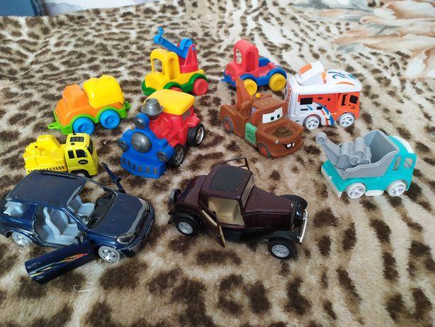 Пакет игрушек машина машинки металлические wader поезд тачки трейлер