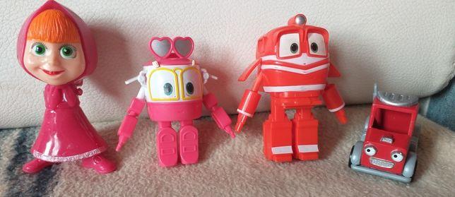 zestaw figurek robot train i inne