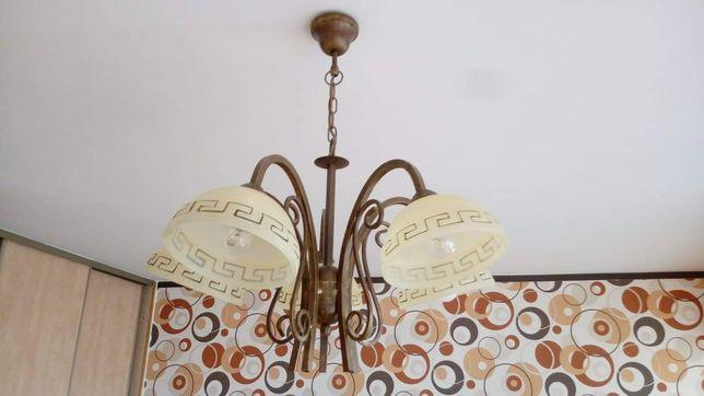 Lampa sufitowa 5 punktowa i lampa podłogowa