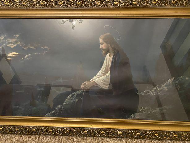 Obraz Pan Jezus - duży i piękny [drewniana i solidna rama]