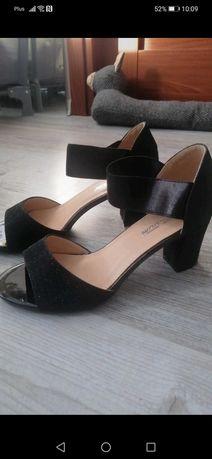 Sandały brokatowe 39