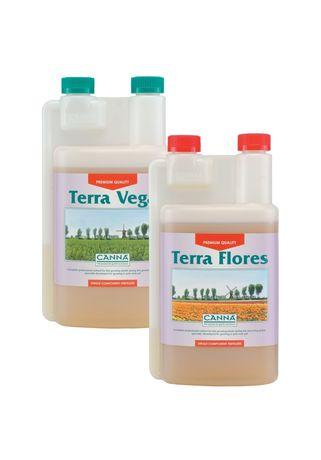 Zestaw nawozów CANNA FLORES 0,5L + VEGA 0,5L