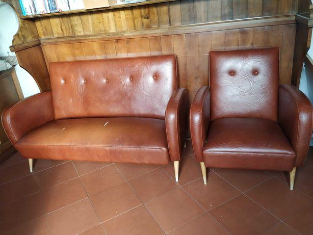 sofás retro anos 60 - 2 individuais+1 de três pessoas