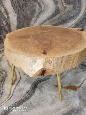 Stolik kawowy z plastra Glamour złoty