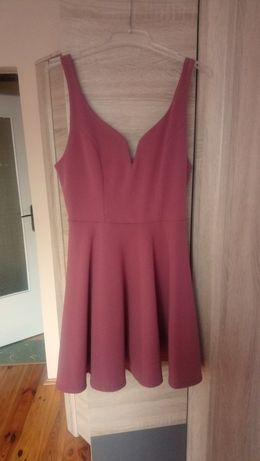 Sukienka New Look róż ciemny róż brudny róż rozmiar 40