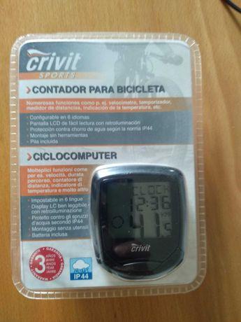 Ciclómetro/ Contador para bicicleta Crivit (Novo)