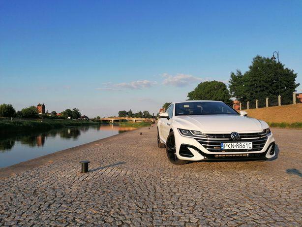 VW Arteon Bialy Ślub Wesele Auto Samochód do ślubu