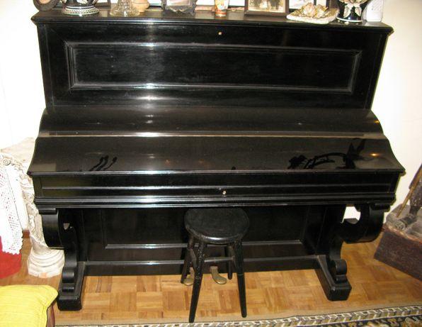 Piano Vertical Henri Herz Século XIX muito bom estado