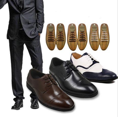 Шнурки силиконовые круглые универсальные для обуви Ленивые шнурки