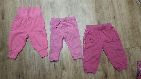 3 pary spodni rozowe 68 74 80 Lindex coolclub super stan ZESTAW