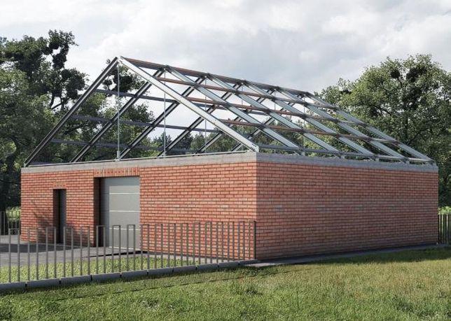 Konstrukcja stalowa dach dźwigary garaż kratownica płyty warstwowe