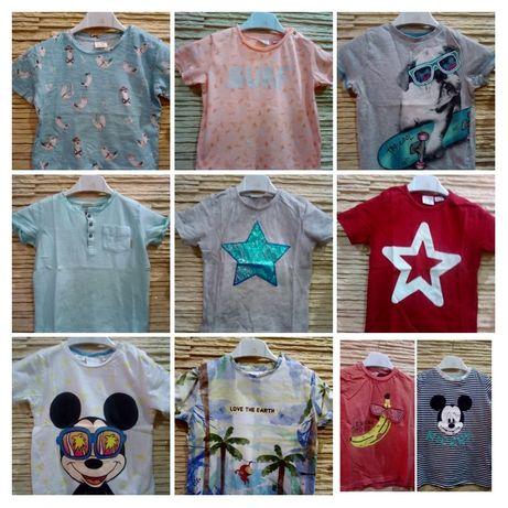 Zara bluzeczki, koszulki t-shirty 10 szt r.98/104