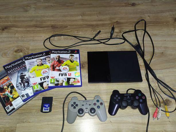 PlayStation 2 | 4 gry | 2 pady | Super cena