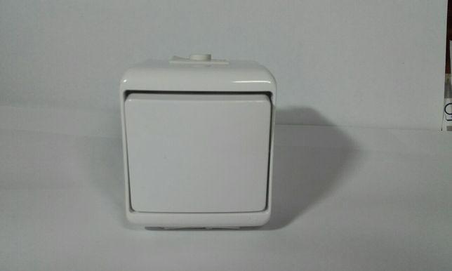 Łącznik Hermetyczny Jednobiegunowy n/t IP54 10Ax 250v~ Junior Whe-1