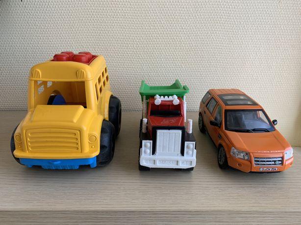 Детские игрушки автобус, машинки камаз, джип Range Rover