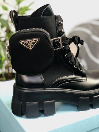 Ботинки ∎ PRADA LEATHER Boots ∎ Топ обувь ∎ Люкс качество ∎