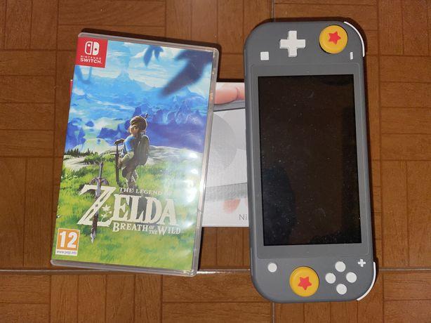 Nintendo Switch Lite + Zelda BOTW + Cartão SD + Capa e Película