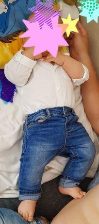 Komplet chrzest koszula Mayoral r. 80 i spodnie Zara Boy r. 74