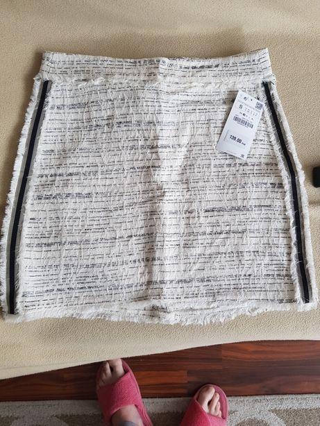 Zara spódnica tweedowa mini