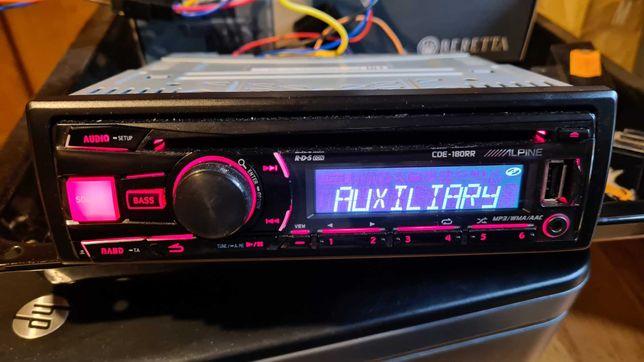 ALPINE CDE-180RR Radio samochodowe Mp3 USB SUB OUT