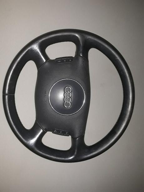 Kierownica audi a6 c5 skórzana multifuncyjna kompletna airbag