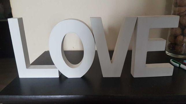 Napis LOVE, literki 16 cm